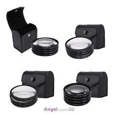 52/67/72/77mm Close-up +1+2+4+10 Macro Lens Filter Kit for DSLR Camera