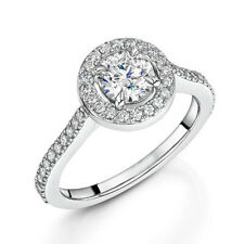 Ct Diamond Wedding Band 5 6 7 8 Solid 18K White Gold Solitaire Ring Natural 0.85