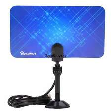 Ultra-Thin Amplified Indoor HDTV Antenna-UHF VHF HDTV DTV Box Ready High Gain