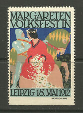 Germany/Leipzig 1912 Margareten Volkfest poster stamp/label