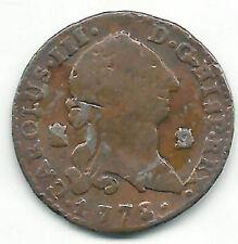 Carlos III 2 Maravedis 1778 Segovia @ Buen Exemplaire @