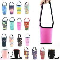 New silicone Outdoor Travel Water Bottle Sports Bag Ice Cup Set Sleeve Bott LG