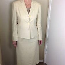Talbot's Size 6 Suit Jacket & Skirt Linen Beige Beautiful