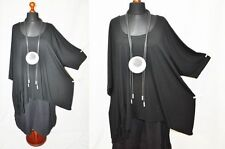 Estilo de Capas Bogen-Big-Ballon-Tunika-Shirt Knoten-Bänder Negro 52,54, 56,58