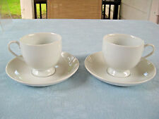 Mikasa Fine China Classic Flair Set Of 2 Saucers & Cups