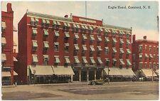 Eagle Hotel in Concord NH Postcard 1916