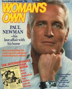 PAUL NEWMAN - Vintage UK WOMAN'S OWN Magazine October 31st 1981