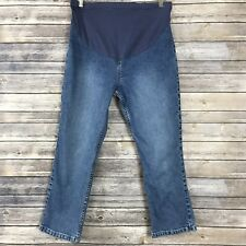 Gap Maternity Boot Cut Stretch Capri Stonewashed Jeans Full Panel Womens Size S