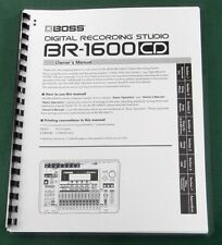 Boss BR-1600CD Instruction Manual: Comb Bound with Protective Covers!