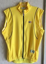 SMS Santini Wind Tex Vest Size Large (48) Yellow Cycling Sleeveless