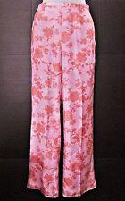 NWOT Giorgio Armani Silk Pants Women Floral Pink Black Label Wide Leg sz 38 US 2