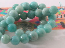 1 Wire 42 pearls in Amazonite 10 mm 42 cm Long Top Quality