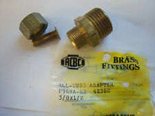 Brass fitting adapter 3/8x1/2 all-tube