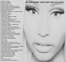 Blu-ray Promo Video Disc ONLY Hi-Def Promos Party Mix  2013 Volume 6 (Dance/Pop)