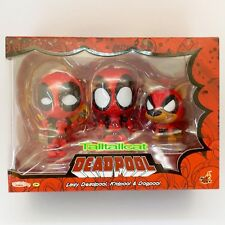 Marvel Hot Toys Lady Deadpool, Kidpool & Dogpool Cosbaby Collectible Set