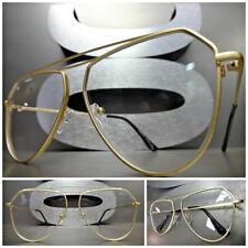 Men or Women VINTAGE RETRO Style Clear Lens EYE GLASSES Matte Gold Fashion Frame