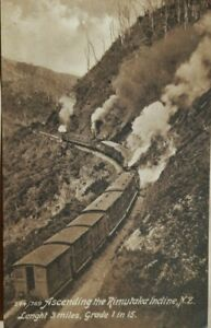 NEW ZEALAND PRE WORLD WAR 1 MAORILAND RAILWAY TRAIN AT RIMUTAKA PICTURE POSTCARD