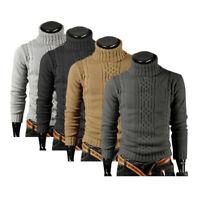 Men Winter Turtleneck Pullover Sweater Slim Fit Warm Knitwear Jumper Shirts Tops