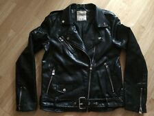 Pull & Bear Faux Leather Biker Jacket Too Chic For You Rocker Star Medium Glam