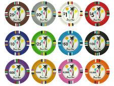 Desert Heat Clay 13.5 Gram Poker Chips Sample Set Pack - 12 Denominations NEW