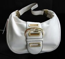 "Micheal Kors Micheal ""Morgen"" Vanilla Shoulder Bag Leather Hand bag  Purse Tote"