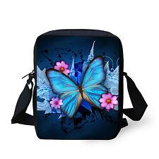 Blue Butterfly Fashion Small Messenegr Shoulder Bag Women Handbag Purse Satchel