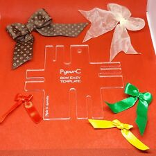 Bow Maker Easy Template 7 Sizes Acrylic Thickness 3mm Australian Made