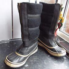 WOMEN'S BLACK SOREL HELEN OF TUNDRA WATERPROOF BOOTS SIZE UK 4