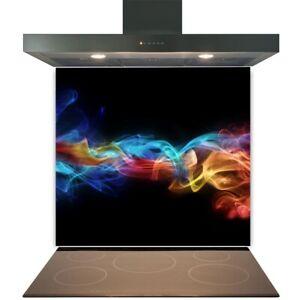 Kitchen Glass Splashback Toughened Tile Cooker Panel Any Size Black Smoke