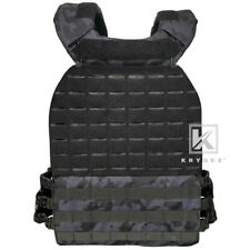 Tactical CrossFit Weighted Vest Plate Carrier Endurance Fitness Multicam Black