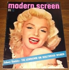 MARILYN MONROE AUTHENTIC ORIGINAL USA MODERN SCREEN MAGAZINE MARCH 1954
