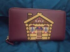 New braccialini tua Log home wallet Zip around closure