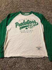 Nashville Predators St. Patrick's Day, Long Sleeve. Adult Small. Old Time Hockey