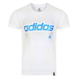 Mens Adidas T-Shirt Top Tee - White - Small