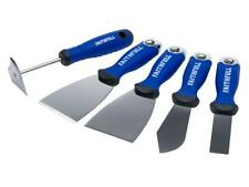 Faithfull Pro Soft Grip 5 Pc Decorating Tools Scraper Stripper Putty Knife Set