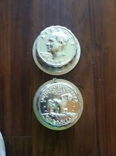 Vintage 1972 One Dollar Coin Molds Cake And Jello Back /Front One Set