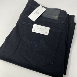 AG Adriano Goldschmied Men's 33 The Graduate Tailored Leg Black Jeans New