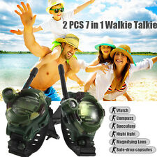 1 Pair Watches Walkie Talkie 7 in 1 Children Watch Radio Two Way Interphone Toy