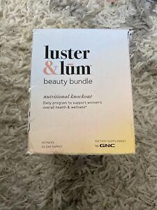 GNC Luster & Lum BEAUTY BUNDLE 30 Packs | Exp 06/21 Sealed READ
