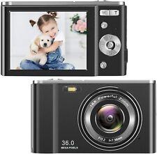 HD Digital Camera 1080P Vlogging LCD Mini Camera with 16X Zoom 36MP 2.7K Digital