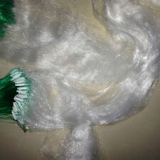 50M*2M White Fishing Gill Net Nylon 3 Layer Monofilament Fish Mesh Trap Netting