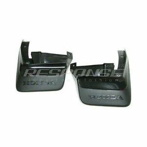 OEM Honda 90-91 CRX EF Rear Splash Guards Mud Flaps Set 08P09SH2100 Genuine