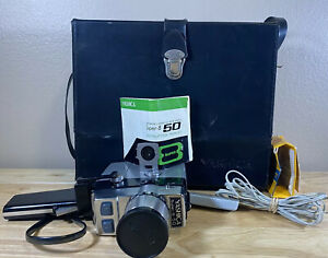 Vintage Yashica Super-8 50 Movie Camera With Case - For Parts Great Prop