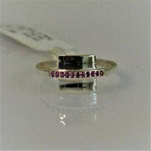 RUBY CZ NATURAL GEMSTONE 925 STERLING SILVER HANDMADE JEWELRY RING 3 TO 10