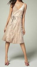 Next Wrap Dress Sequin Velvet Nude Pink Party Occasion Glamorous 16 NWT RRP £65