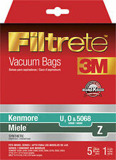 5 pack - 3M - Filtrete HEPA Vacuum Bag 68707A for Select Kenmore and Miele Uprig