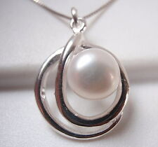 Cultured Pearl 925 Sterling Silver Pendant Corona Sun Jewelry