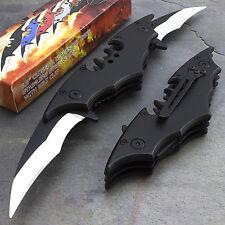 "10.25"" BATMAN DUAL BLADE BLACK SPRING ASSISTED FOLDING KNIFE Dark Knight Joker"