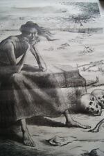 MAXIMILIEN LUCE FAMINE SICILE ANCONE   LITHOGRAPHIE 1898 GRAVE VAN GELDER  R2998