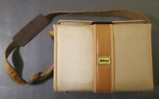 "Rare Vintage NIKON CANVAS & LEATHER CAMERA BAG ~ Made In Japan ~ 10"" x 7"" x 5.5"""